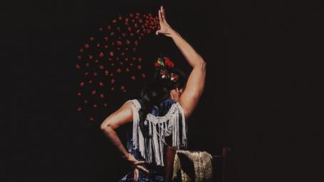 Fotografía flamenca pintada en Confluencias de Pacolega y Piropo